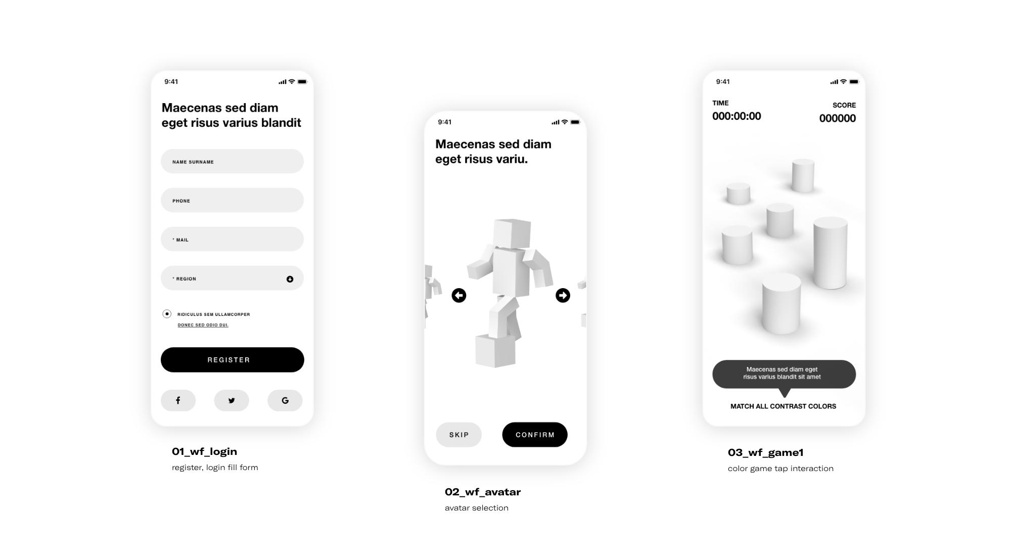Advergame 3D design