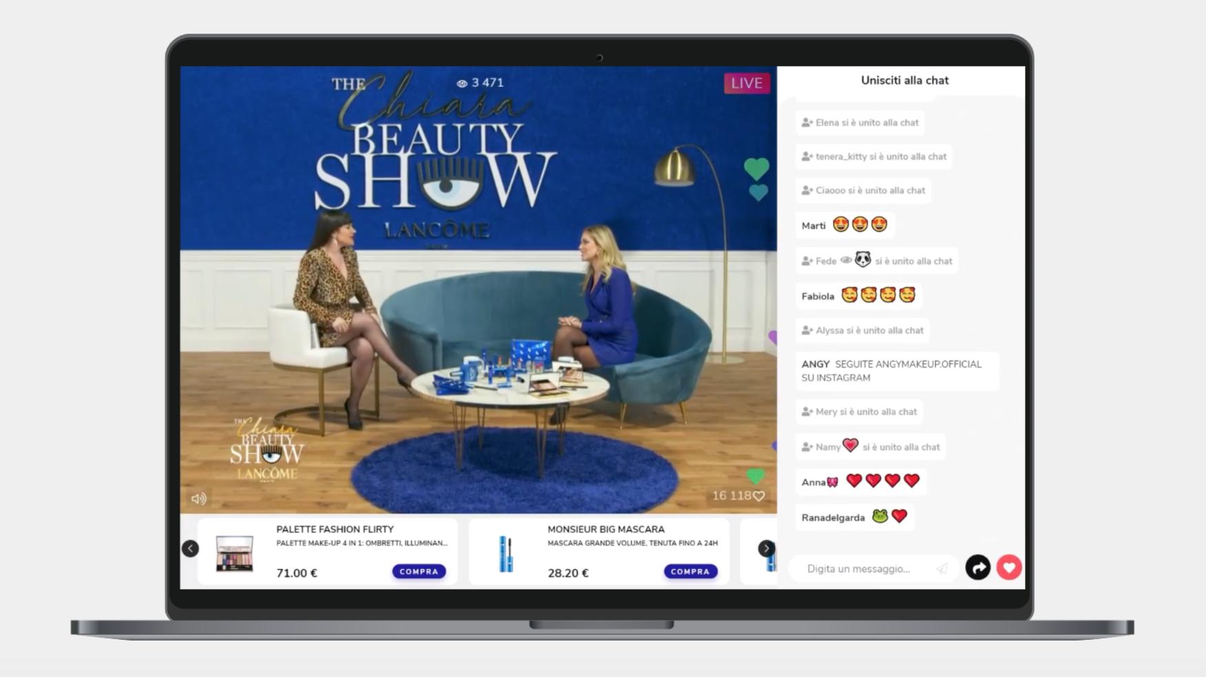 Livestreaming commerce: il Beauty Live Show di Chiara Ferragni su Livescale